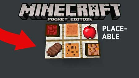 Мод Placeable Food для Minecraft PE