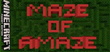 Карта Maze of Amaze для Minecraft PE