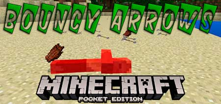Мод Bouncy Arrows для Minecraft PE