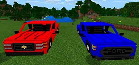 Ford F-150 & Chevy Silverado mcpe 1