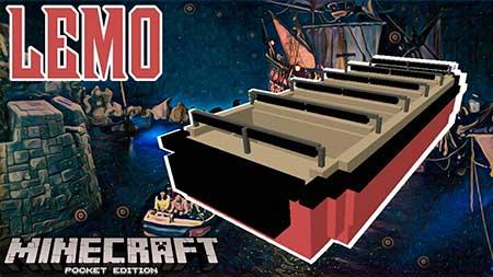 Мод LEMO Attraction Boat для Minecraft PE