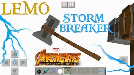 Мод Stormbreaker (Avengers Infinity War) для Minecraft PE