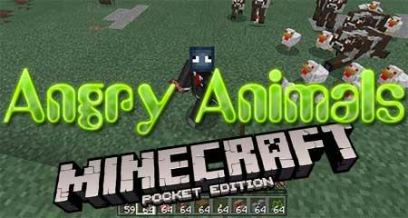 Мод Angry Animals для Minecraft PE