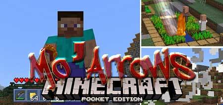 Мод Mo'Arrows для Minecraft PE