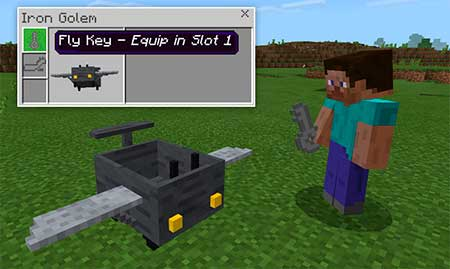 Controllable Airplane mcpe 1