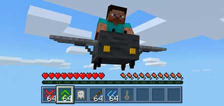 Controllable Airplane mcpe 3