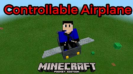 Мод Controllable Airplane для Minecraft PE