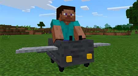 Controllable Airplane mcpe 2