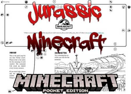 Карта Jurassic Minecraft для Minecraft PE
