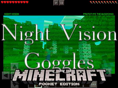 how to make night vision goggles in minecraft