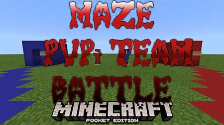 Карта Maze PvP Team Battle для Minecraft PE
