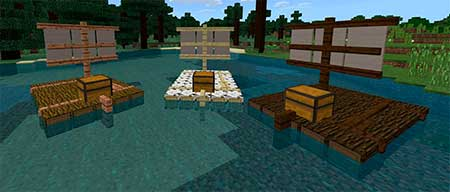 Chested Sail Raft mcpe 2