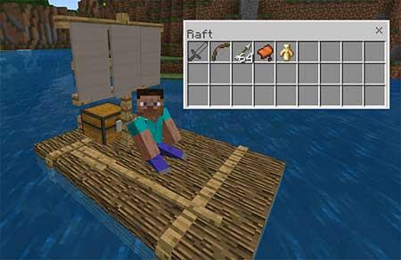 Chested Sail Raft mcpe 1