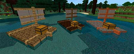 Chested Sail Raft mcpe 3