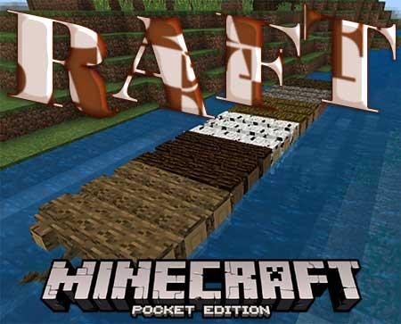 Мод Raft для Minecraft PE