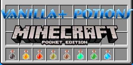 Мод Vanilla + Potions для Minecraft PE
