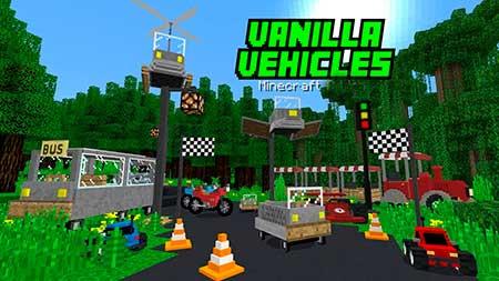 Карта Vanilla Vehicles: Racing & Fun! для Minecraft PE