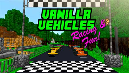 Vanilla Vehicles: Racing & Fun! mcpe 4