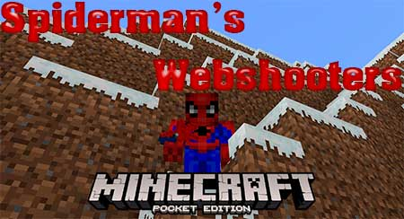 Мод Spiderman's Webshooters для Minecraft PE