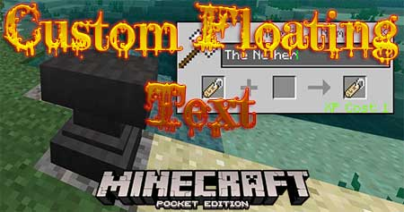 Мод Custom Floating Text для Minecraft PE