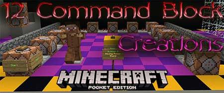 Карта 12 Command Block Creations для Minecraft PE