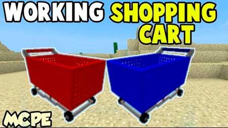 Мод Shopping Cart для Minecraft PE