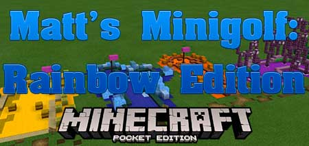 Карта Matt's Minigolf: Rainbow Edition для Minecraft PE