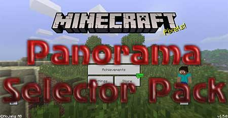 Текстуры Panorama Selector Pack для Minecraft PE
