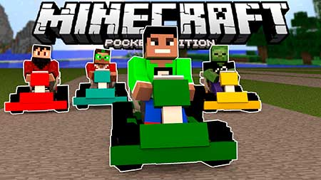 Мод Go Kart для Minecraft PE