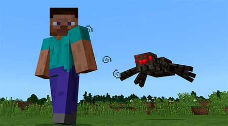 Shooting Spiders mcpe 1
