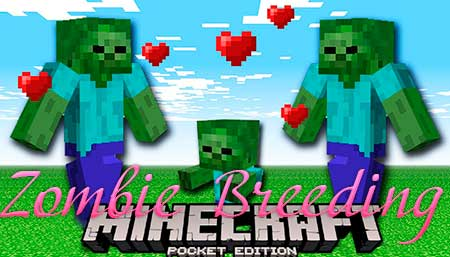 Мод Zombie Breeding для Minecraft PE