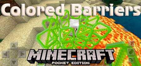 Текстуры Colored Barriers для Minecraft PE