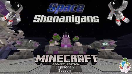 Карта SG Space Shenanigans EP2 : S1 (Sci-Fi) для Minecraft PE
