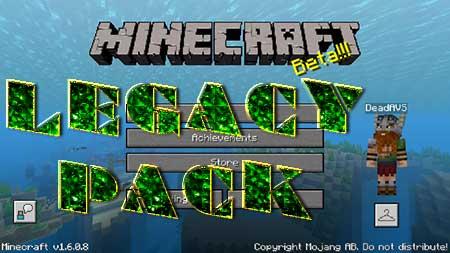 Текстуры Legacy Pack для Minecraft PE