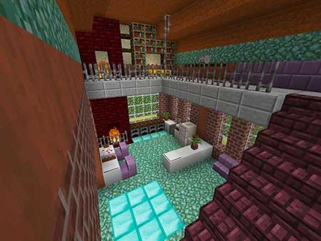 Customizable Command Block House mcpe 3
