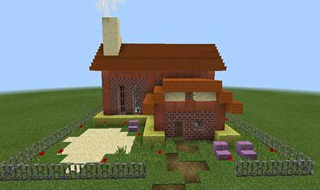 Customizable Command Block House mcpe 4