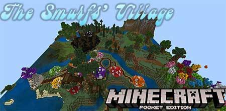 Карта The Smurfs' Village для Minecraft PE
