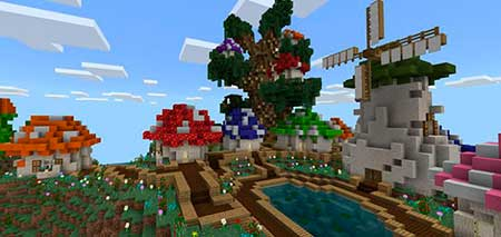 The Smurfs' Village mcpe 1