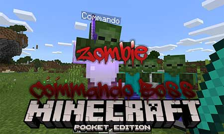 Мод Zombie Commando Boss для Minecraft PE