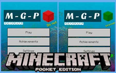 Текстуры M-G-P для Minecraft PE