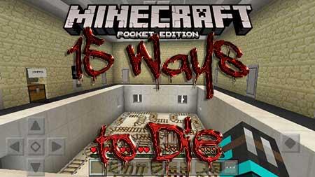 Карта 15 Ways to Die для Minecraft PE