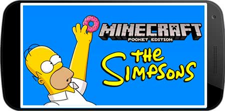 Мод The Simpsons для Minecraft PE