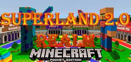 Карта Superland 2.0 Realm для Minecraft PE