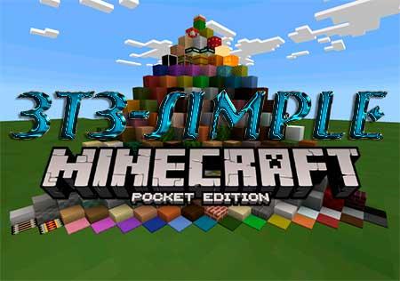 Текстуры 3t3-Simple для Minecraft PE