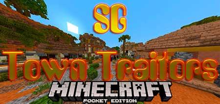 Карта SG Town Traitors для Minecraft PE