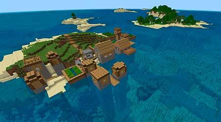 ZooVsYet: Место крушения корабля рядом с крепостью mcpe 1