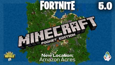 Карта SG Fortnite 5.0 для Minecraft PE