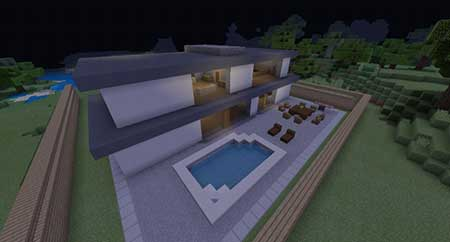 Woodlux Modern House mcpe 2