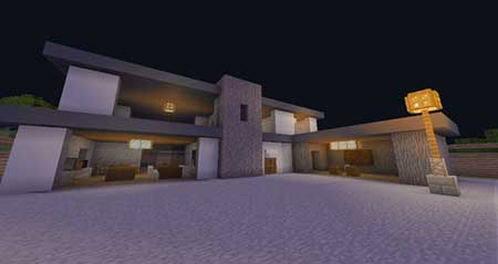Woodlux Modern House mcpe 1