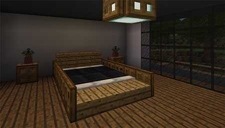 Woodlux Modern House mcpe 4